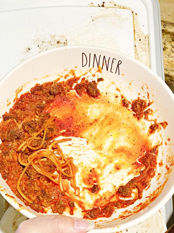 Dirty Pasta Dish