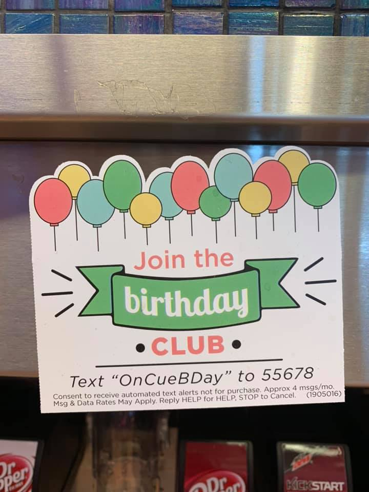 OnCue FREEBIES When You Join OnCue Birthday Club!