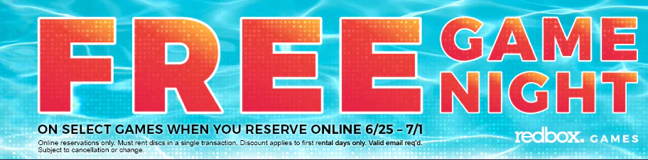 FREE Redbox Game When You Reserve Online!