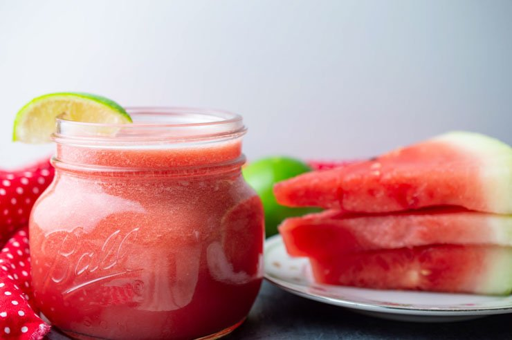 Watermelon Lime Mason Jar