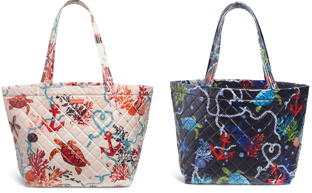 vera bradley quilted beach totes