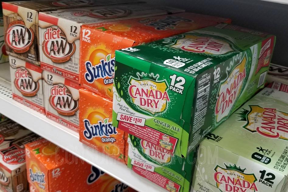 Canada Dry Ginger Ale 12-pks $1.50, 2-liters 70¢ at Walmart After Cash Back!