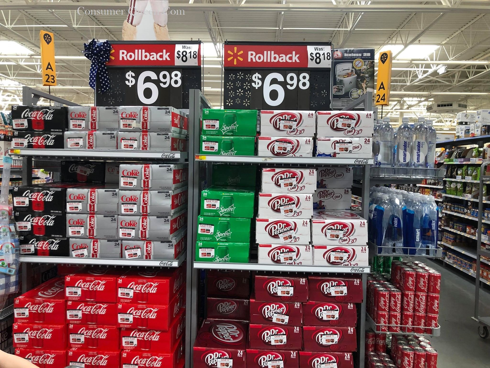 Coke and Dr. Pepper 24-Pack Cans $5.98 at Walmart!