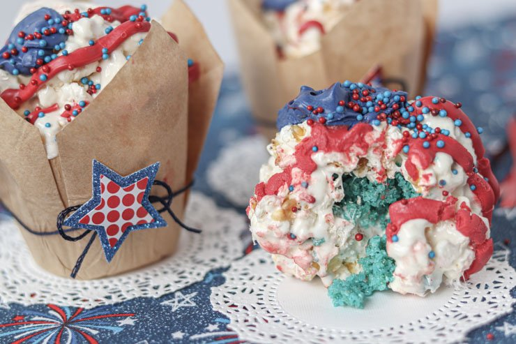 firecracker popcorn ball opened