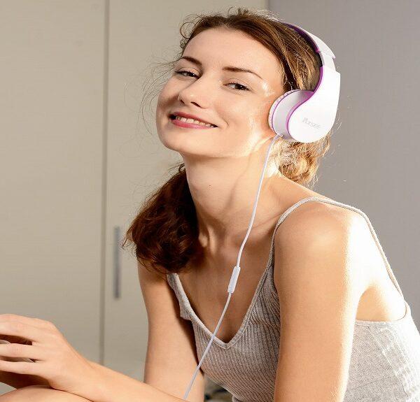 girls portable adjustable headphones