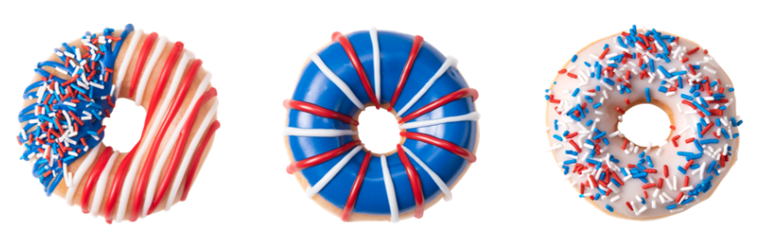 New Krispy Kreme Patriotic Doughnuts + BOGO FREE Dozen July 4th!