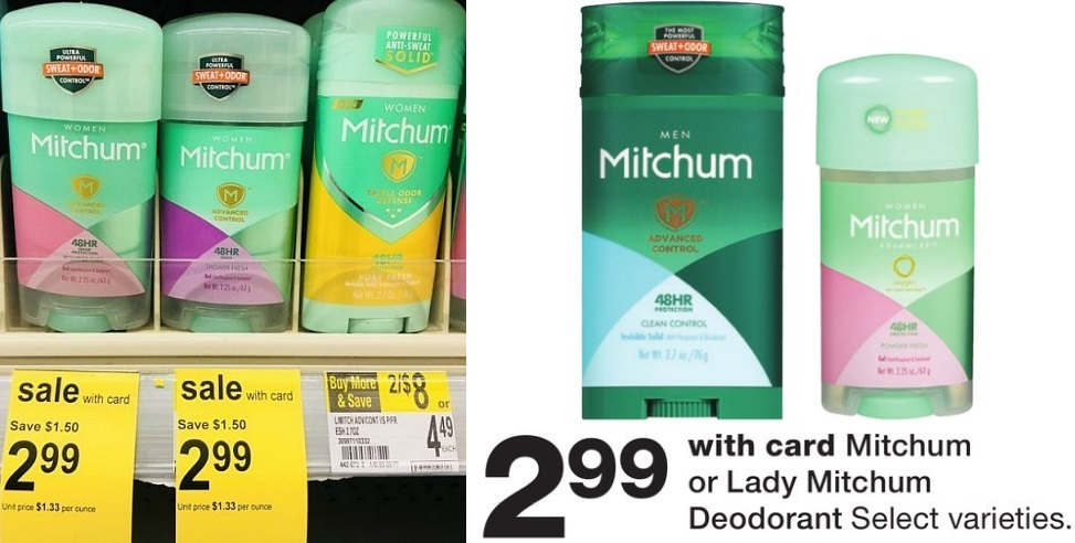 Lady Mitchum or Mitchum Deodorant 99¢ at Walgreens After Rewards