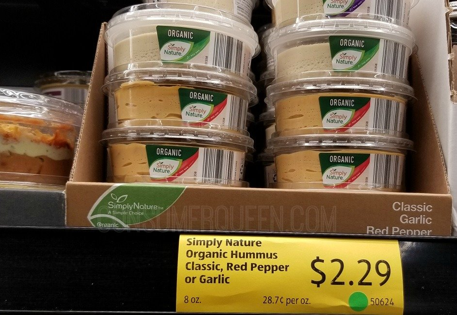 organic hummus at aldi