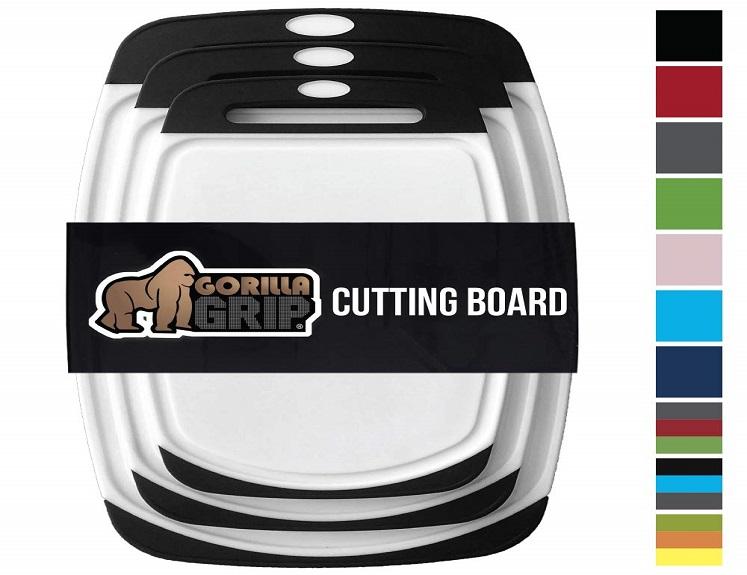 Original Reversible Cutting Board Set by Gorilla Grip – 3-Pack – $18.99 on Amazon!