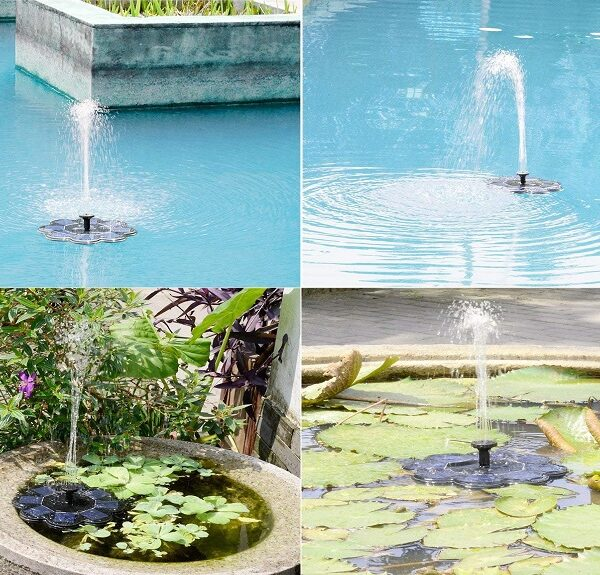 solar powered birdbath fountain