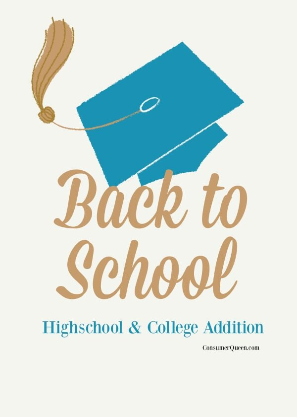 Back to School Guide – Highschool and College Addition