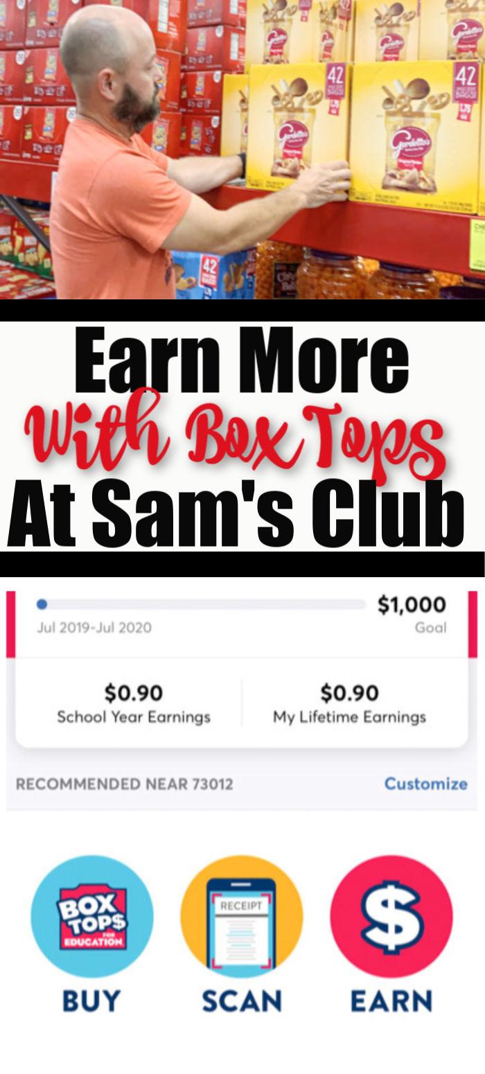 Digital Box Tops at Sams Club