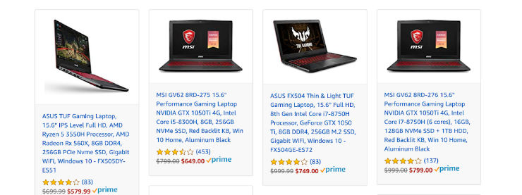 Prime Day Deal: Gaming Laptops & PC's 50% off