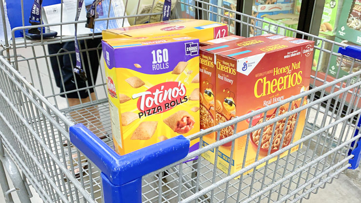 General Mills Products in Basket