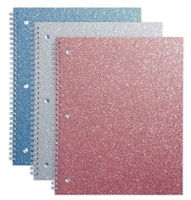 Office Depot Glitter Notebooks