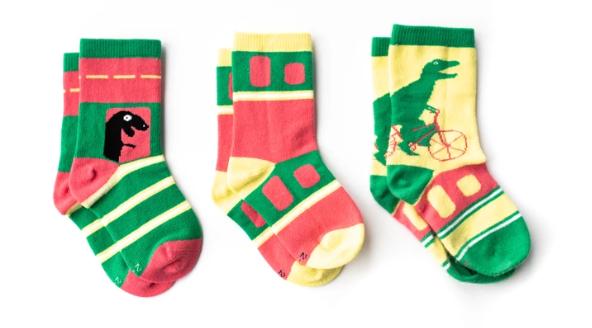 Green Dinosaur Kids Socks