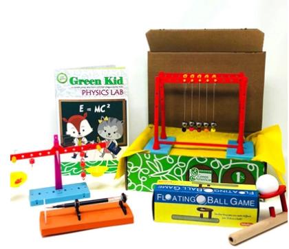 Green kids crafts physics set