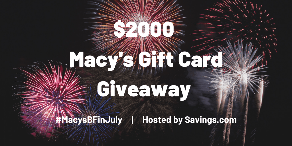 Macy's Black Friday in July and Savings.Com Giveaway!