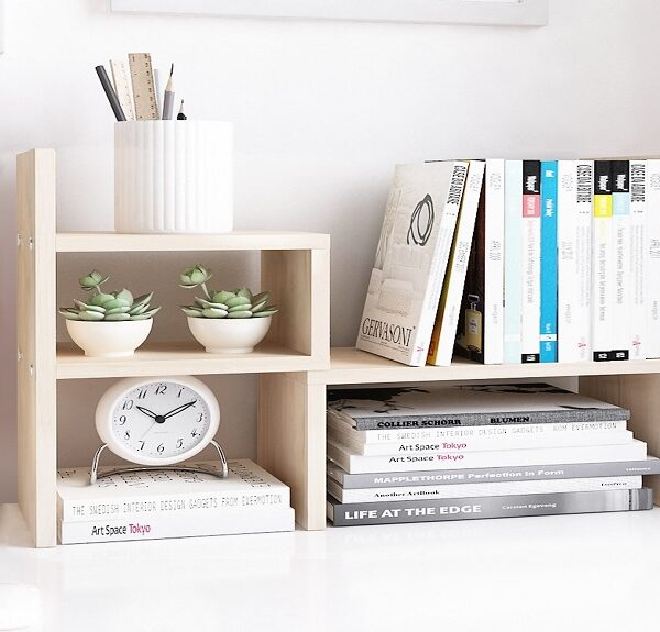 adjustable wood display shelf