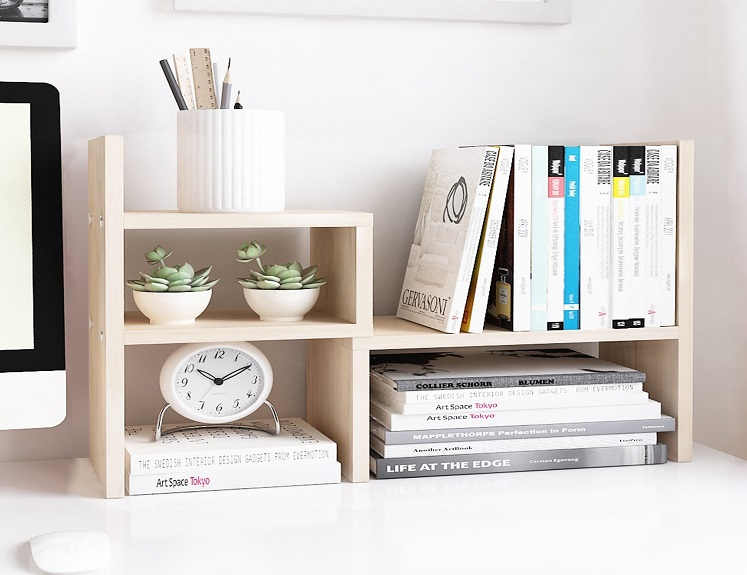 adjustable wood display shelf