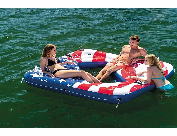 American Flag Pool Float With Cup Holders $24.99(reg. $69.99) + Free Shipping!