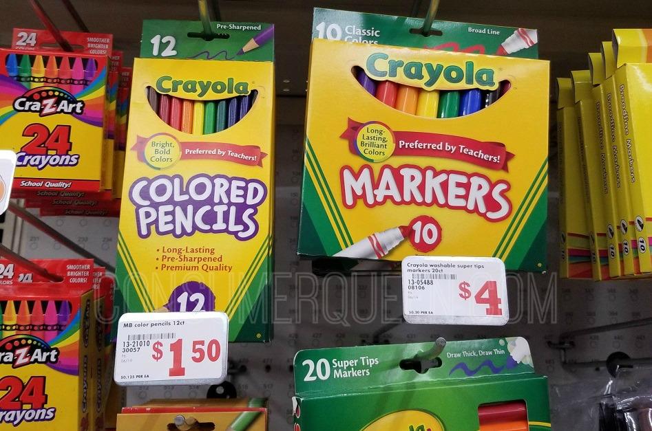 crayola school supplies at family dollar