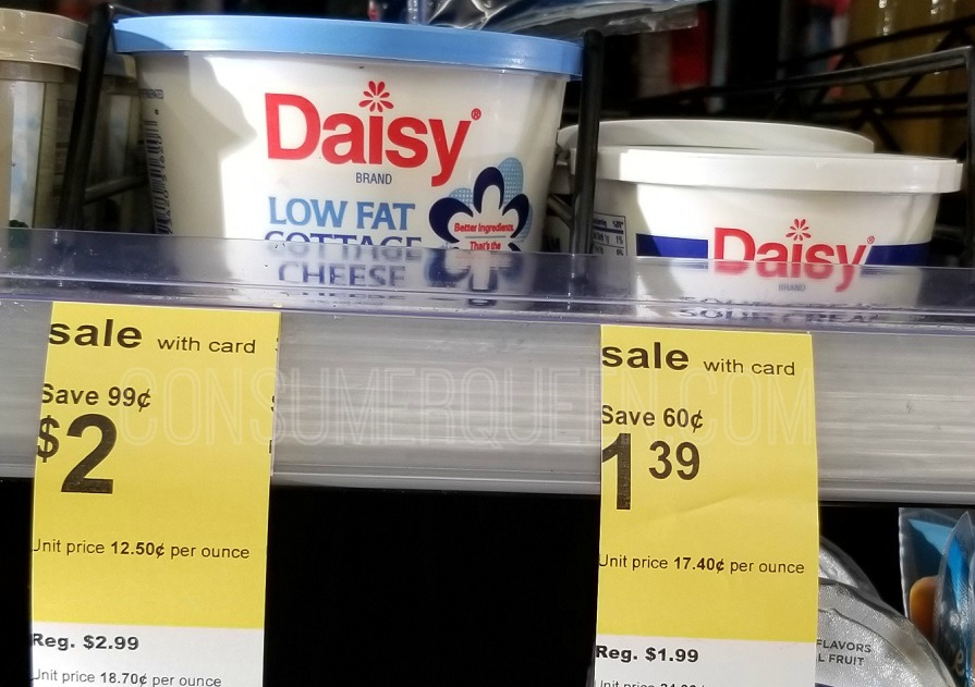 daisy cottage cheese at walgreens