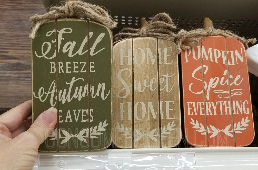 fall table top signs at michaels