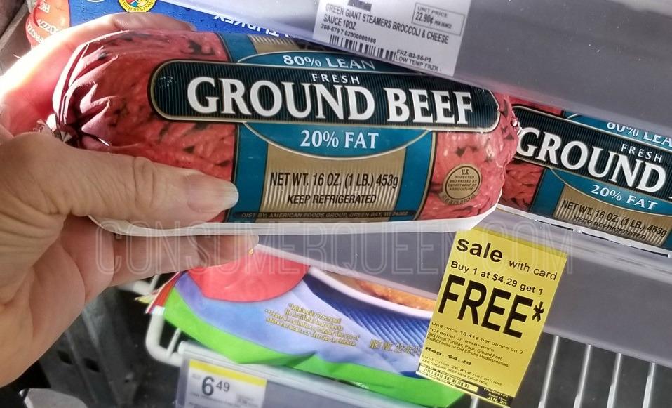 ground beef at walgreens