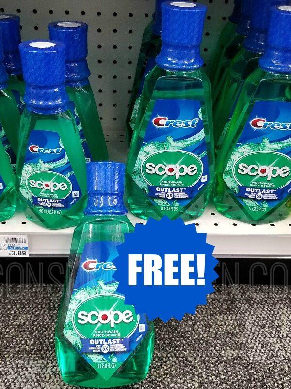 free scope mouthwash at CVS