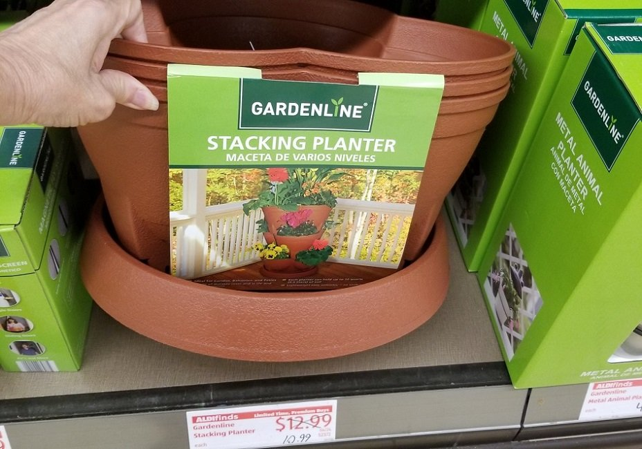 stacking planters at aldi
