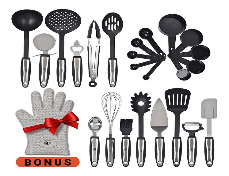 Stainless Steel Kitchen Utensils Set – 25 Pieces – $39.99(reg. $89.99) + Free Shipping!