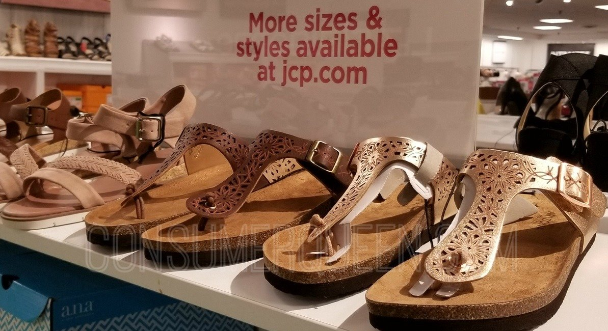 womens sandals at JCPenney