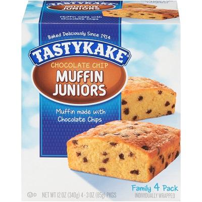 Tastykake juniors muffins chocolate chip