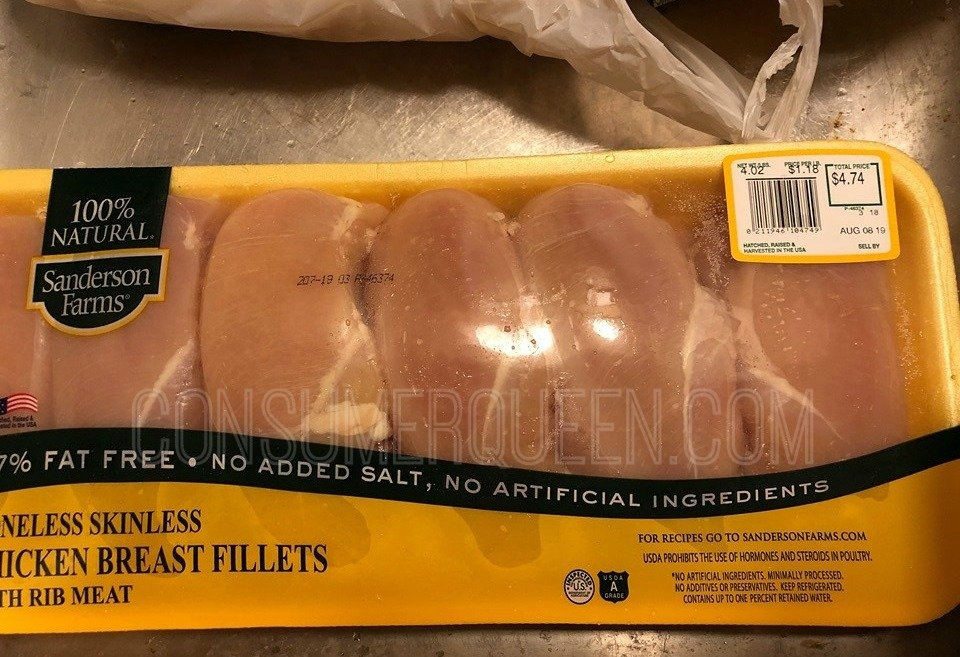 all natural chicken breasts at Sprouts