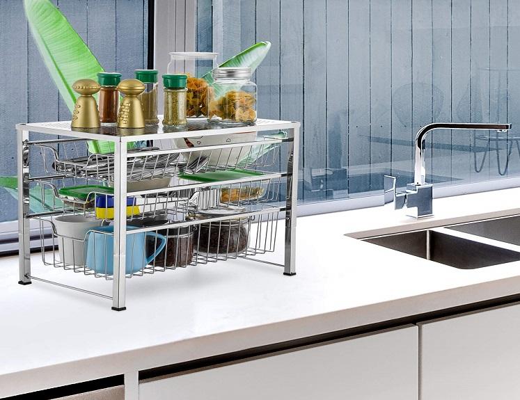 Bextsware Cabinet Basket Organizer Only $28.99(reg. $39.99) + Free Shipping!