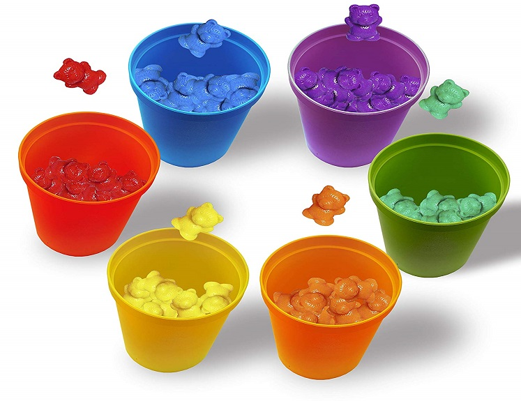 Colorful Counting Sorting Bears Kit With Cups $19.99 on Amazon!