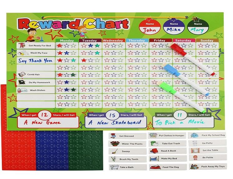 Magnetic Reward Chart Set for Kids $18.99 on Amazon!