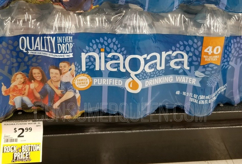 niagra water at crest foods