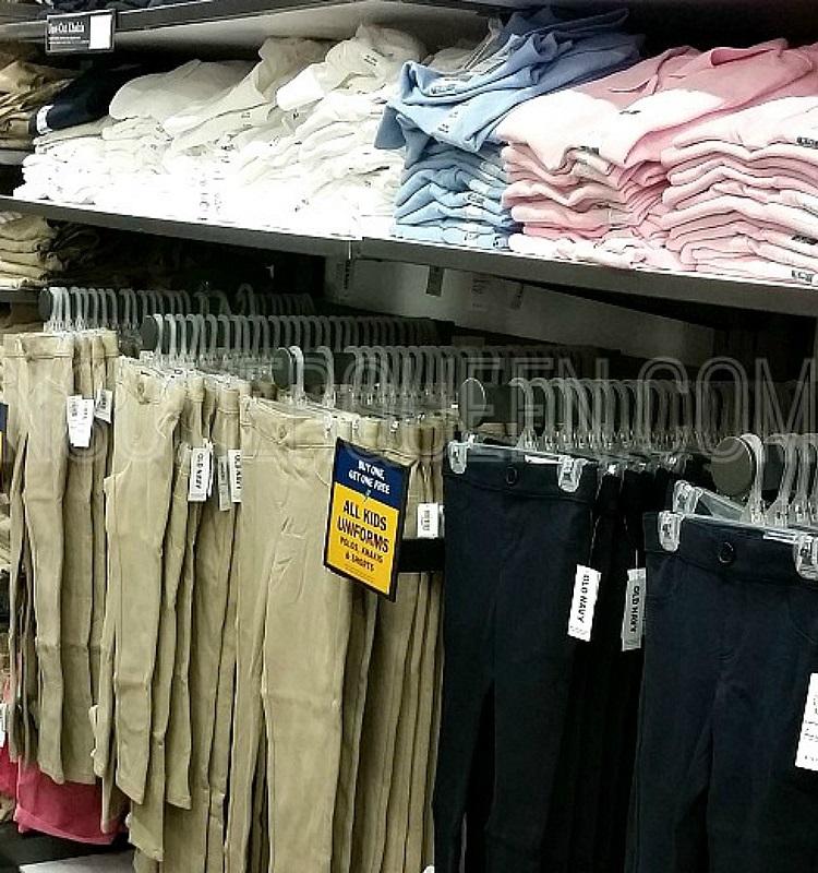 Old Navy School Uniform Apparel 50% Off *EXPIRED*