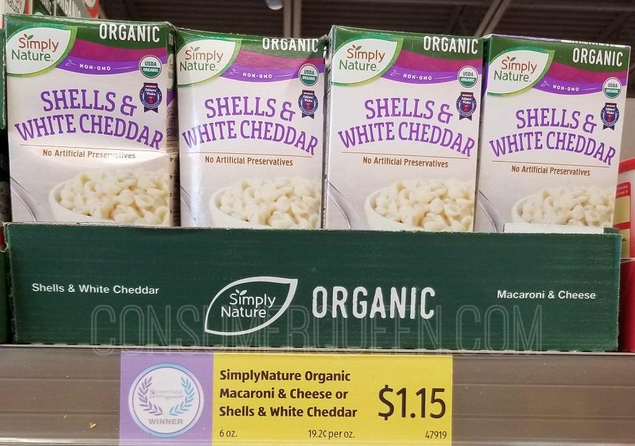 organic mac & cheese at aldi
