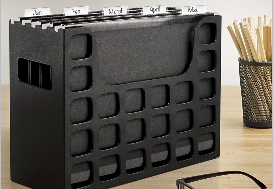 Portable Desktop File $8.29 on Amazon- GREAT for Storing Coupon Inserts!
