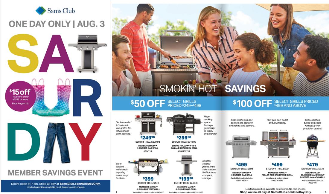 sam's sales event catalog