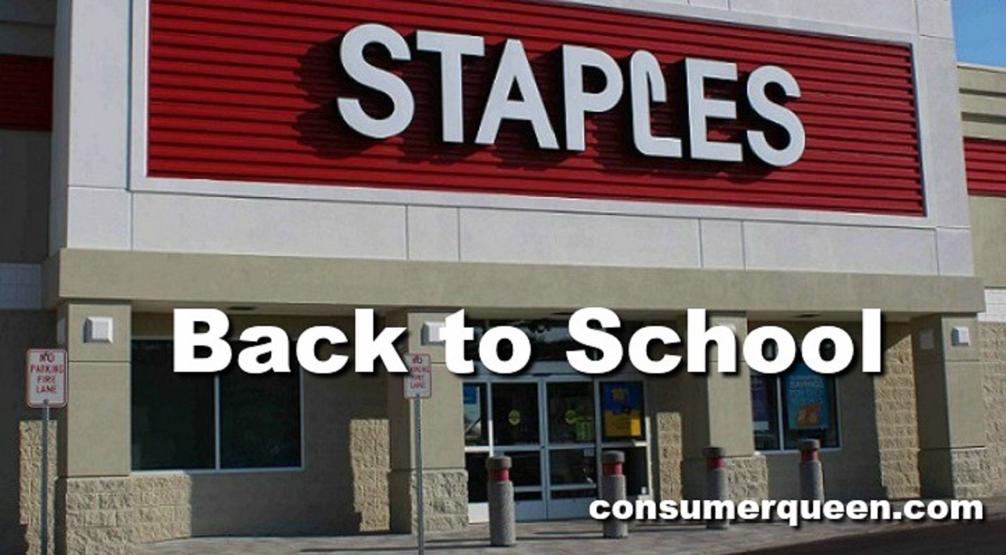 Staples Back to School Deals For Week of 8/22 – 8/28