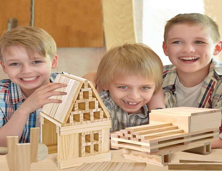 Wooden Building Toy Set – $14.95 + 20% Off Coupon on Amazon!