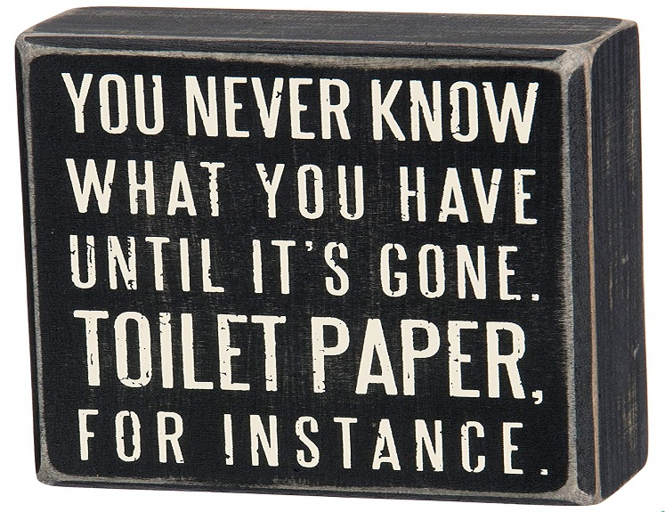 Wooden Classic Box Sign for Powder Room $6.91 on Amazon!