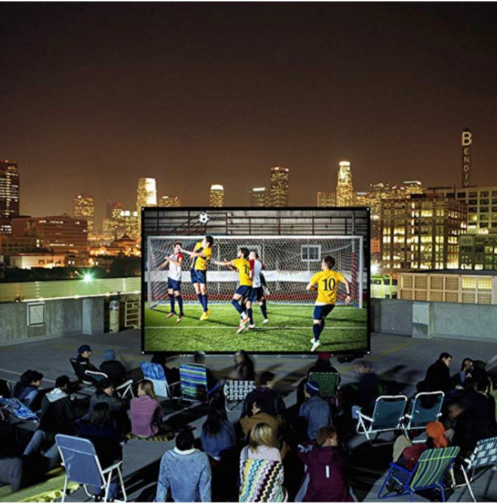 Projector Screen 100 inch 16:9 – only $9.60 on Amazon!