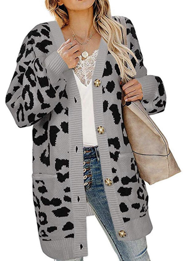 Leopard Cardigan Sweater, 3 colors to choose from! Just $15.30 on Amazon – 55% off
