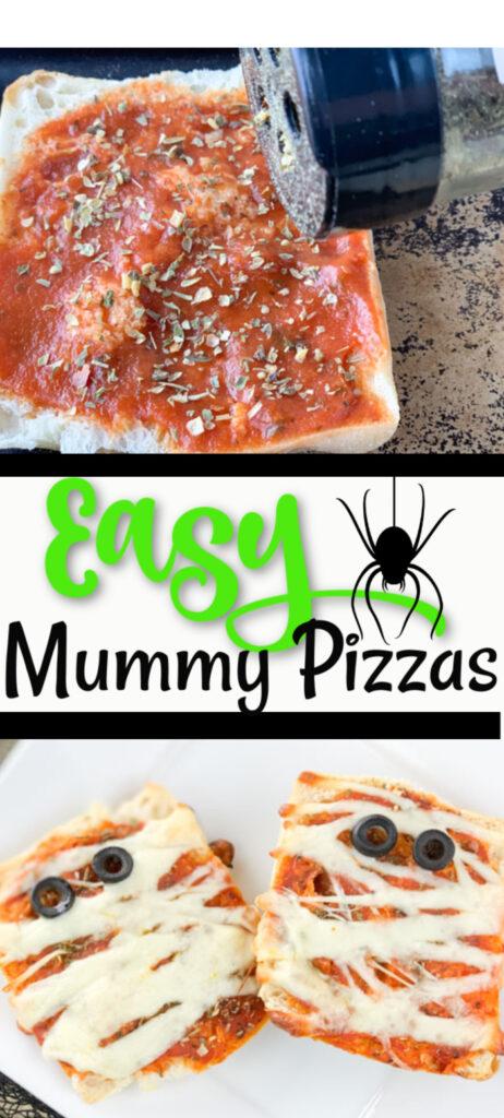 Easy Mummy Pizzas