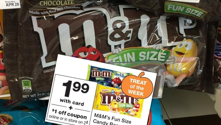M&Ms fun size at Walgreens